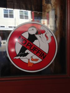 I desperately wanted to see a puffin, but no such luck. I LOVED this sign!