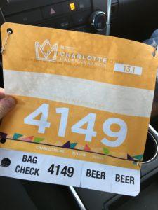 half marathon bib