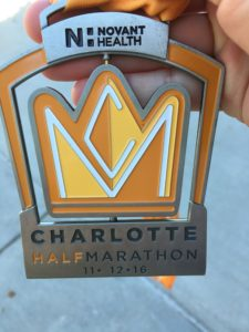 half marathon finisher medal