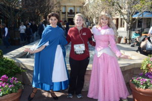 my character picture with Belle and Aurora