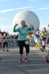 I got to pose while running in front of Spaceship Earth!