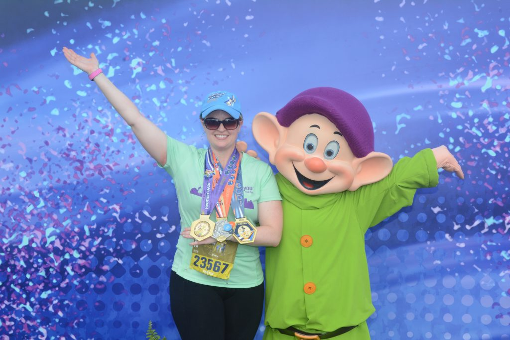 Marathon Finish with Dopey