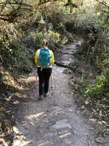 Me hiking on the Inca Trail