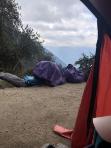 view from my tent on day 3 on the Inca Trail