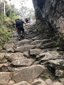 A very steep climb up to get to Machu Picchu