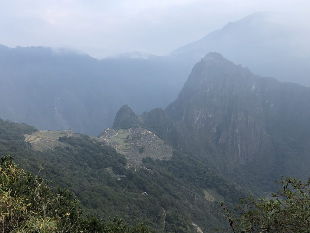 The clouds disappeared and we could see Machu Picchu from the Sun Gate