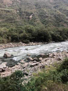 A view of the river on the train back to Ollantaytambo