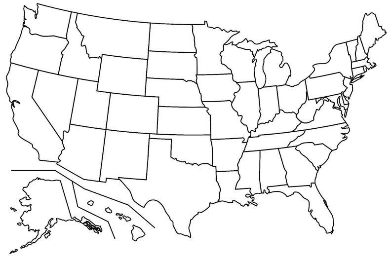 50 states blank