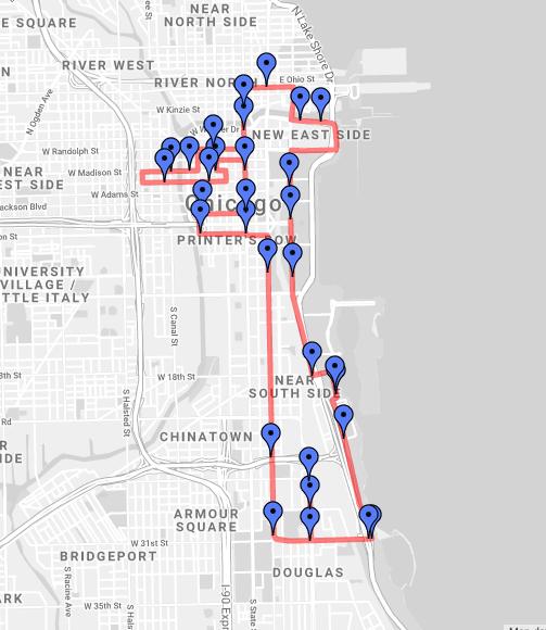 2018 RNR Chicago Half Course Map