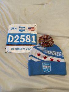 Bib and beanie for the Abbott Chicago 5K